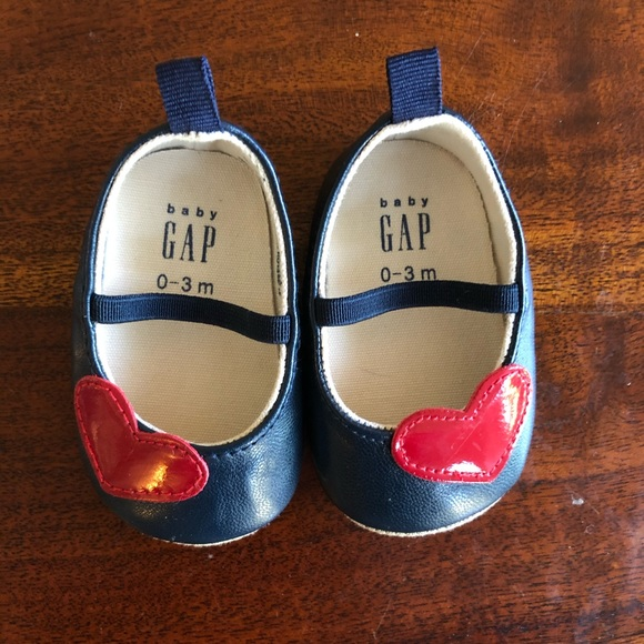GAP Baby Girls Size 6-12 Months Metallic Pink Ballet Flats Mary Jane Shoes